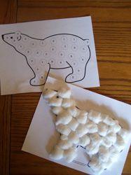 cotton ball polar bear- Antarctica