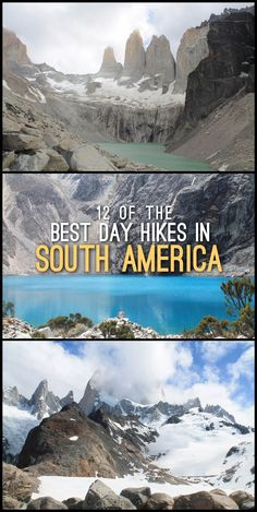 12 of the best day hikes in South America, including Laguna 69, Isla del Sol and Mount Fitz Roy. Travel in South America.