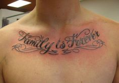 Family quote tattoos for men makes beautiful body. Men family quote design for soft skin.