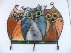 Gebrandschilderd glas Owl.Housekeeper gebrandschilderd door mamichka