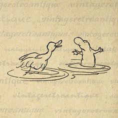 Digital Image Duck and Platypus Download Graphic Cartoon