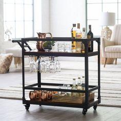 Belham Living Trenton Bar Cart - Wine Furniture at Hayneedle