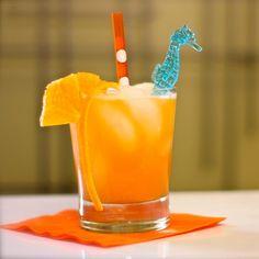 Harvey Wallbanger - 1oz vodka, 3oz fresh-squeezed orange juice, 1/2oz Galiano, orange slices for garnish