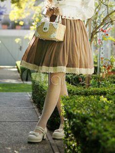Great Sweet Mesh Classic Lolita Skirt - Milanoo.com