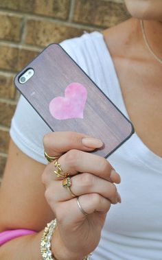 heart case - love as a nod to our baby girl coming soon :)