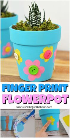 Mother's Day Flower Pot Craft · The Inspiration Edit - Diy and crafts interests Easy Mother's Day Crafts, Mothers Day Crafts For Kids, Easy Crafts For Kids, Toddler Crafts, Diy For Kids, Toddler Art, Flower Pot Crafts, Clay Pot Crafts, Flower Pots