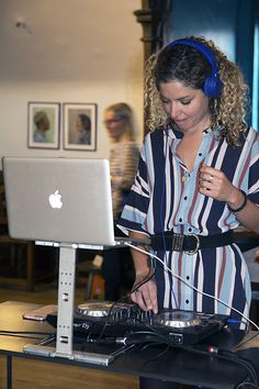DJ Zerya Shakley at the Rockett St George Housewarming Launch Party at Liberty London #rockettstgeorge #liberty #london #libertylondon #launch #event #housewarming #city #rsg #interiors #interior #homeware #home #house #inspiration #customer #party #cocktails #alcohol #glitter
