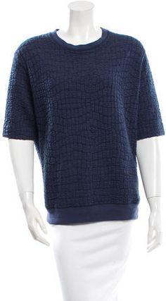 Sandro Short Sleeve Sweatshirt Sandro, Hoodies, Sweatshirts, Stylish, Sleeves, Sweaters, Blue, Tops, Women
