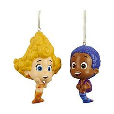 Kurt Adler 3-4' Bubble Guppies Goby and Deema Blow Mold Ornaments 2/asstd. >> Tried it! Love it! Click the image. : Christmas decor