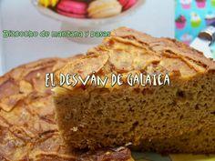 BIZCOCHO DE MANZANAS Y PASAS http://eldesvandegalatea.blogspot.com.es/2013/06/bizcocho-de-manzana-y-pasas.html