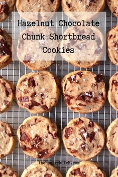 An update on the classic shortbread cookie with hazelnut flour, large chunks of chocolate, and flaky salt to balance out the sweetness. Decadent Chocolate Cake, Chocolate Chunk Cookies, Chocolate Hazelnut, Top Recipes, Other Recipes, Dessert Recipes, Desserts, Shortbread Cookies, Cookies Et Biscuits