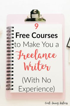 Copy Paste Earn Money - Become a Freelance Writer with 9 Free Courses-No Experience Needed These courses look amazing! Perfect for starting freelance writing from SCRATCH! Check them out! - You're copy pasting anyway.Get paid for it. Earn Money Online Fast, Earn Money From Home, How To Make Money, How To Become, Make Money Writing, Writing Tips, Writing Process, Writing Resources, Writing Help
