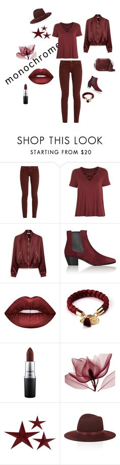 """One color means style"" by z84eve ❤ liked on Polyvore featuring The Great, Topshop, Mulberry, Yves Saint Laurent, Lime Crime, MAC Cosmetics, Janessa Leone and Kate Spade"