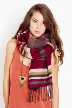 pretty scarf and necklace