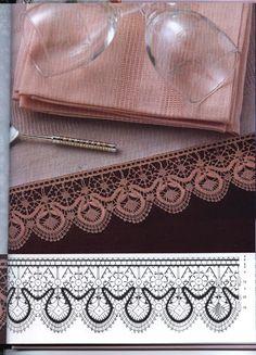 Foto: Bobbin Lace Patterns, Baby Knitting Patterns, Lacemaking, Point Lace, Crochet Borders, Needle Lace, Ribbon Embroidery, Tatting, Hand Weaving