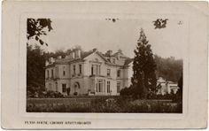 Flass, Maulds Meaburn, Cumbria. Palladian villa beside the river Lyvennet. An old postcard.