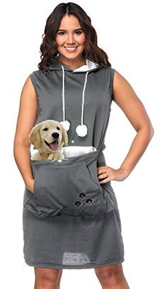 Summer Dress  $16.00 Womens Pet Carrier Dresses Kitten Puppy Holder Long Shirts Big Pouch Hood Tops Long Shirts, Dresses For Work, Summer Dresses, Pet Carriers, Costumes For Women, Kitten, Pouch, Big, Lady