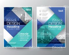 Blue and teal Brochure annual report cover Flyer Poster Layout illustracion libre de derechos libre de derechos
