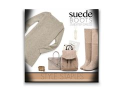 """Style Staple: Suede Boots"" by nonniekiss ❤ liked on Polyvore featuring Rebecca Minkoff, Charlotte Russe, Yves Saint Laurent, Polaroid, rag & bone and ALDO"