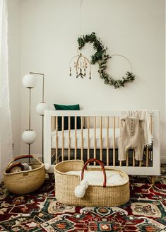 Gender neutral boho nursery for baby #5