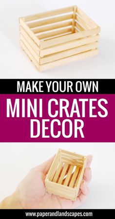 Make your own mini crates to decorate your house, your desk, or to add to a dollhouse! - Paper and Landscapes