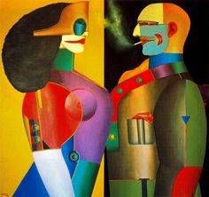 Thank You - Richard Lindner - WikiPaintings.org