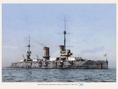 """Imperial Russian Battleship """"Gangut"""" in Helsinki, 27 June 1915"""