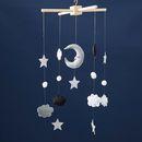 Felt Cloud, Moon And Star Mobile