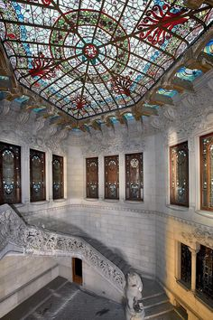 House Burjs, Barcelona, Spain, photo via ref. Barcelona Sights, Barcelona Bars, Barcelona Catalonia, Art Nouveau, Art Deco, Beautiful Architecture, Architecture Design, Hotel W, Antoni Gaudi