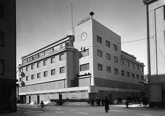 Hotelli Arina, Isokatu 18, sota-asuisena vuonna 1940. Kuva: Osuuskauppa Arinan arkisto