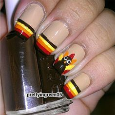 thanksgiving nail designs   12 Easy Cute Thanksgiving Nail Art Designs Ideas Trends Stickers 2014 ...