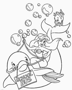 para colorear  the little mermaid printable coloring pages for kids