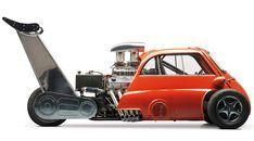 BMW Isetta Dragster Featuring Chevy and Suspension Custom Hot Wheels, Hot Wheels Cars, Auto Motor Sport, Motor Car, Quad, Bmw Isetta, Microcar, Mens Gear, Drag Cars