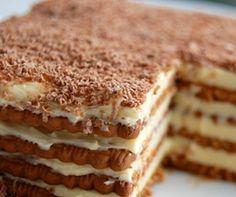 Τούρτα με μπισκότα πτι-μπερ σοκολάτας