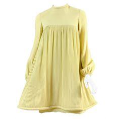 Pierre Cardin Pleated Babydoll Dress, ca. 1967
