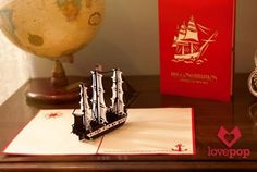 Naval Engineers Create Extremely Intricate Pop-Up Cards | Mental Floss
