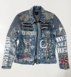 Bowie (light) Jeans Jacket - All About Jean Jacket Outfits, Denim Outfit, Jacket Jeans, Rockstar Denim, Light Jean Jacket, Grunge Jeans, Streetwear Jeans, Dope Shirt, Denim Ideas