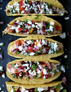 Smokey Cider Chicken Tacos w/ Quick Apple-Pomegranate Pico Minutes!) Smokey Cider Chicken Tacos w/ Quick Apple-Pomegranate Pico Minutes! Bhg Recipes, Mexican Food Recipes, Soup Recipes, Great Recipes, Dinner Recipes, Turkey Recipes, Mexican Meals, Dinner Ideas, Recipies