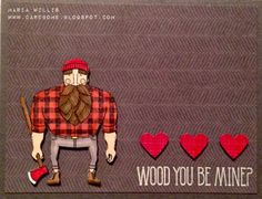 Stampin' Up! Wood You Be Mine? Card Bomb by Maria Willis: Wood You Be Mine?