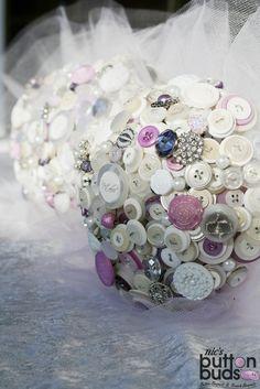 Nic's Button Buds Button Bouquet Alternative Wedding Bouquet  www.facebook.com/nicsbuttonbuds