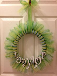 Baylor Bears Tutu Wreath via Etsy