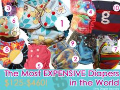 The most expensive cloth diapers in the world, june 2013 by dirty diaper laundry..... Cloth diapers that cost over $100 each!