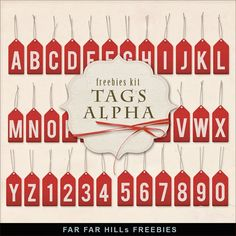 Scrapbooking TammyTags -- TT - Designer - Far Far Hill, TT - Item - Alphabet