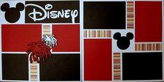Disney 2-page 12x12 do-it-yourself scrapbook pagekit. $7.00, via Etsy.