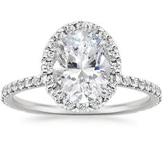 I love this!!!! Its beautiful!  This style is perfect! 18K White Gold Waverly Diamond Ring (1/2 ct. tw.) from Brilliant Earth