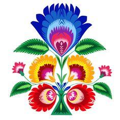 folk flower Art Print by bachullus - X-Small Hungarian Embroidery, Folk Embroidery, Embroidery Ideas, Polish Embroidery, Folk Art Flowers, Flower Art, Mexican Flowers, Polish Folk Art, Scandinavian Folk Art