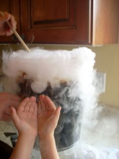 homemade dry ice root beer. fun halloween tradition!