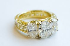 Diamond engagement ring by Ashley Morgan Designs.