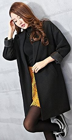 Amazon.com: Searia Women Lable Turndown Collar Trench Long Winter Warm Coat Jacket Overcoat: Clothing