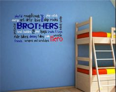 Brothers Vinyl wall decal boy wall decals by YourWayVinyl on Etsy, $37.50 for my little man